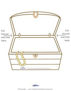 Free Treasure Coloring Pages | Blank Printable Treasure Chest - Coolest Free Printables
