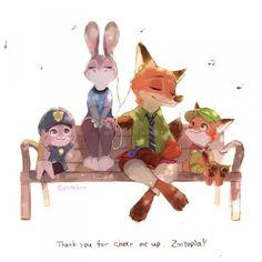 #Zootopie #Fanart #Dessin de Pomiko #JudyHopps #NickWilde