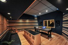 I would love this so much! But I think white would be better. It would be like a blank canvas... :) Recording Studio Designed by Wes Lachot Design Group