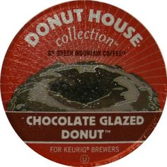 Donut House Collection Coffee, Chocolate Glazed Donut, K-Cup Portion Pack for Keurig K-Cup Brewers, 24-Count