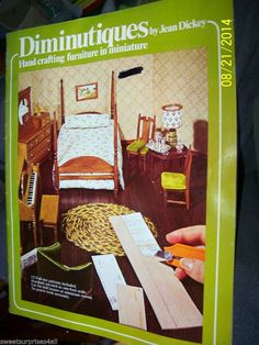 Making Dollhouse MIniatures DIMINUTIQUES by Jean Dickey Vtg 1975 Patterns