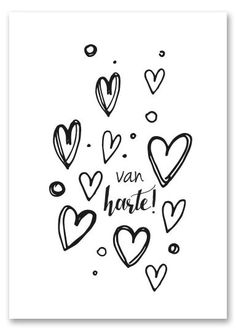 Hand Lettering Quotes, Doodle Lettering, Brush Lettering, Typography, Happy Birthday Tag, Diy Postcard, Zentangle, Beautiful Handwriting, Dutch Quotes