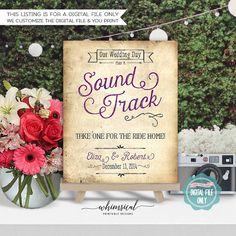 Wedding CD Soundtrack Sign Wedding von WhimsicalStationery auf Etsy