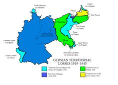 German Territorial Losses 1919 - 1945