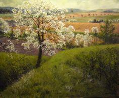 Jan Severa Czech Republic, My World, Vineyard, Country Roads, Paintings, Garden, Outdoor, Art, Outdoors