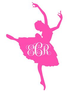 Ballerina with Monogram decal -- choose your color and size custom vinyl dance Car Phone Home Room Decor Vinyl on Etsy, $2.00