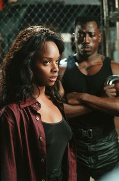 "Dr. Karen Jenson: ""You used me as bait?""  Blade: ""Get over it."""