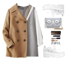 """Zaful"" by gabygirafe ❤ liked on Polyvore featuring Uniqlo, Chanel, tarte, women, whiteshoes and zaful"