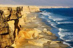 Coastal cliffs near city of Antofagasta at La Portada