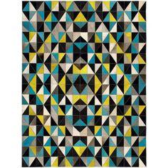 Пестрый геометрический ковер Franklin #carpet #carpets #rugs #rug #interior…
