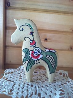 Fjord horse carved from basswood.