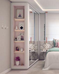 Small Bedroom Interior, Small Master Bedroom, Apartment Interior, Bedroom Wall Units, Room Ideas Bedroom, Wardrobe Room, Bedroom Decor For Teen Girls, Cupboard Design, Closet Designs