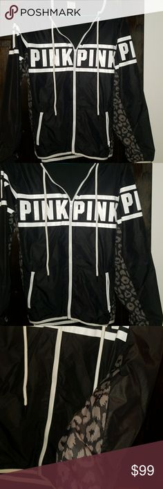 """RARE VS PINK ANORAK BLACK AND GRAY CHEETAH PRINT  XS SLASH SMALL FLEECE LINED FULL ZIP HOODED ANORAK  VERY WARM CUTE AND COZY EXTREMELY HARD TO FIND DESIGN  I PAID ABOVE RETAIL FOR THIS I'VE WORN IT ONCE VERY BRIEFLY I'M SELLING AT A BIG LOSS SIMPLY BECAUSE ITS JUST TOO STINKING CUTE TO LET """"WASTE AWAY IN MY CLOSET   LIKE NEW!!!!   XS /SM NOT RECOMMEND FOR A MED STRICTLY MY OPINION   NO TRADES  NO HOLDS   REASONABLE OFFERS CONSIDERED  KEYWORD BEING REASONABLE POSH TAKES 20%... I PAID 200$…"""