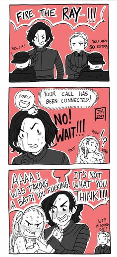 Star Wars TLJ - Reylo Comic - Force Bond 2 by Nekokoro-chan.deviantart.com on @DeviantArt