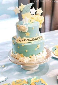Twinkle Twinkle Little Star Cake baby shower baby shower ideas baby shower pictures baby shower cakes baby shower projects baby shower desserts