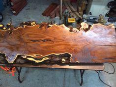 Live Edge Spaulted Pine Coffee Table With Black Steel Legs. Dimensions:  Length: 32u201d Width: Variable From 14u201d 18u201d Thickness: 2u201d Finish: Ebony Stau2026
