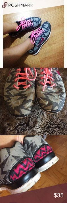 Nike Free TR Fit 3 Zig Zag Pattern In good used condition. These were wore mostly in the gym . There are some signs of wear please view pictures. I always got compliments on these. Size: 8. Nike Shoes Sneakers