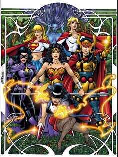 DC Comics women by George Perez: Justice League of Amazons
