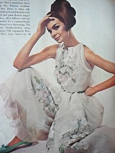 1964 Jean Shrimpton photographed by David Bailey in Dior