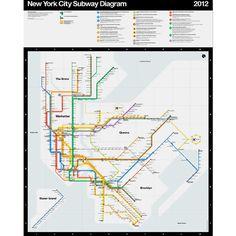 Vignelli 2012 NYC Subway Diagram Print