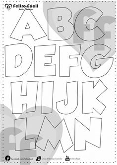 ALPHABET LETTER MOLDS - We selected here in this post some molds of alphabet letters for felt productions already edited in natural size! Alphabet Templates, Alphabet Stickers, Tattoo Lettering Fonts, Hand Lettering Alphabet, Free Pictures To Use, Abc Font, Tree Stencil, Stencils, Bubble Letters
