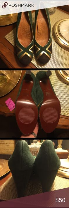 Chie Mihara Green, Gold and Brown Heels Chie Mihara Green, Gold and Brown Heels Chie Mihara Shoes Heels