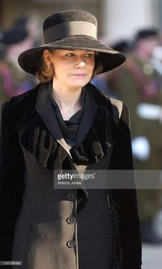 Crown Princess Mathilde Of Belgium Attends The Funeral Of Grand Duchess Josephine-Charlotte Of Luxembourg At The Cathedral Notre-Dame Du Luxembourg.