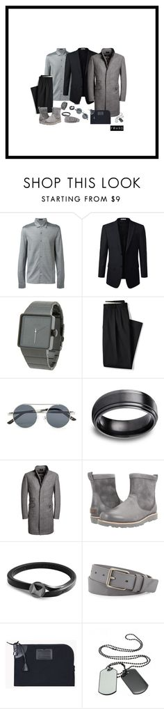 """""""Monday Suit"""" by farhanoid on Polyvore featuring Corneliani, Nixon, Lands' End, Topman, Superdry, UGG Australia, Valentino, Burberry, Dsquared2 and men's fashion"""