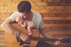 Baby photo with guitar