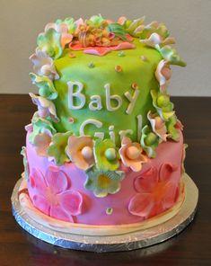 luau themed baby shower cake by sweet treats