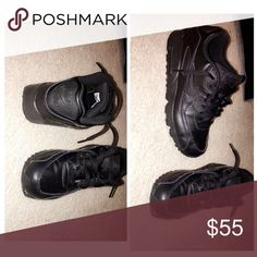 Black air maxes Size 7Y worn once very comfortable still in great shape Nike Shoes Sneakers
