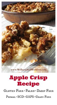 Best Apple Crisp Recipe & $300 Amazon Gift Card GIVEAWAY!  Gluten Free, Paleo, Dairy Free, Coconut Diet, Primal, SCD, Grain Free Diet, GAPS Diet.