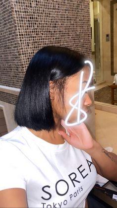 Baddie Hairstyles, Braided Hairstyles, Quick Hairstyles, Pressed Natural Hair, Curly Hair Styles, Natural Hair Styles, Ponytail Styles, Hair Laid, Aesthetic Hair