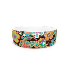 Kess InHouse Julia Grifol My Butterflies Flowers Pet Bowl * Continue to the product at the image link. (This is an affiliate link) Butterfly Flowers, Butterflies, Cat Id Tags, Cat Training Pads, Cat Shedding, Cat Fleas, Cat Memorial, Flea And Tick, Pet Bowls