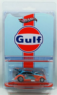 Hot Wheels RLC Series Gulf Volkswagen Drag Beetle with Real Riders MOC