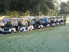 - Golf carts in readiness for a TOUGH DAY of competitive golf in Ocala, FL Black Friday Golf, Tough Day, Down Syndrome, Central Florida, Golf Carts, Charity