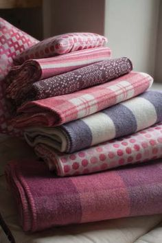 Melin Tregwynt have the best selection of throws and blankets in a gorgeous range of shades and patterns. They are all made in Wales
