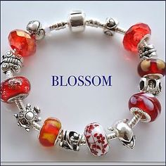 Bracciale donna, Bracelet Woman With Beads/charms European Style