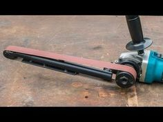 Angle grinder hack, large homemade power file belt sander - YouTube