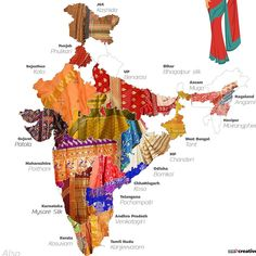 Sarees of India of india of indi. - Sarees of India of india of india - Indian Fabric, Indian Textiles, Om Namah Shivaya, India Map, India India, India Travel, India Facts, Amazing India, History Of India