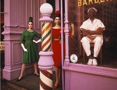 Antonia + Simone + Barber Shop, New York by William Klein