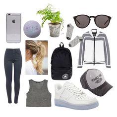 """Gray/grey?"" by elfi-koefoed ❤ liked on Polyvore featuring MANGO, J Brand, NIKE, rag & bone, Converse, Yves Saint Laurent and Madewell"