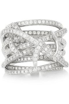 Stephen Webster|Forget Me Knot 18-karat white gold diamond ring|NET-A-PORTER.COM