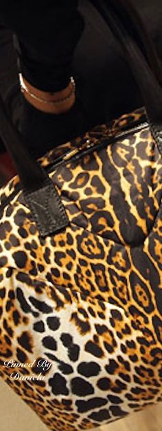 The YSL Easy Leopard-Print tote. It's very very light! Price tag is a little heavy.