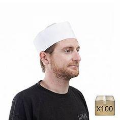 ISACCO Calot de cuisine blanc a/ér/é