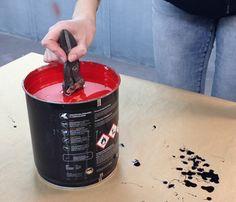 Werkzeug Griffe dippen mit mibenco Flüssiggummi PUR, rot matt - Anti-Rutsch / mehr Grip