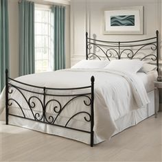 Iron bed - Are you thinking of giving a new air to your bedroom? Today I want to talk about the wrought iron bed frame. ideas to decorate the bedroom with Wrought Iron Bed Frames, Wrought Iron Headboard, Bed Frame And Headboard, Headboards For Beds, Metal Headboards, Headboard Ideas, Platform Bed Frame Full, Full Bed Frame, Metal Platform Bed