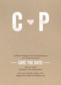 Save the Date Card - Romantic Craft