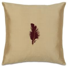 Majesty Feather Embroidered Designer Pillow design by Studio 773