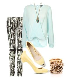 Tribal Mint.   Shirt - Topshop  Pants - Balmain  Shoes - Zara